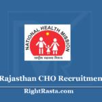 NHM Rajasthan CHO Recruitment 2020 - Rajswasthya Community Health Officer