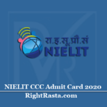 NIELIT CCC Admit Card 2020 (Out) | Download December Exam Hall Ticket