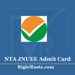 NTA JNUEE Admit Card 2020 (Out)- Download JNU Entrance Exam Hall Ticket
