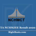NCHMJEE Result 2020 (Out) - Download NTA NCHM JEE Score Card