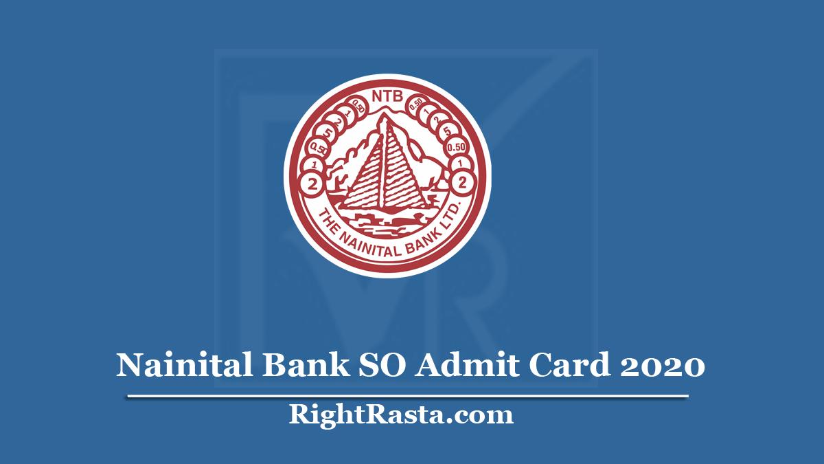 Nainital Bank SO Admit Card