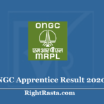 ONGC Apprentice Result 2020 (Out) - Download Sector/Zone Wise Merit List
