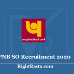 PNB SO Recruitment 2020 (Extended) - Apply Punjab National Bank Manager Vacancy