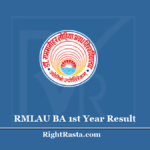 RMLAU BA 1st Year Result 2020 - Download Avadh University B.A. First Year Results
