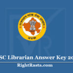 RPSC Librarian Answer Key 2020 (Out)- Check Exam Key & Submit Objection