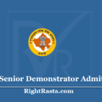 RPSC Senior Demonstrator Admit Card 2020 (Exam Canceled) - Download Exam Hall Ticket