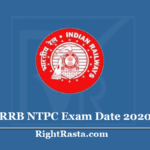 RRB NTPC Exam Date 2020 (Out) Check Railway Recruitment CEN 01/2019 CBT Date