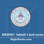 RRBMU Admit Card 2020 (Out) - Matsya University BA BSC BCOM MA MSC MCOM Exam