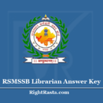 RSMSSB Librarian Answer Key 2020 (Out) - Download RSSB Library Exam Key PDF
