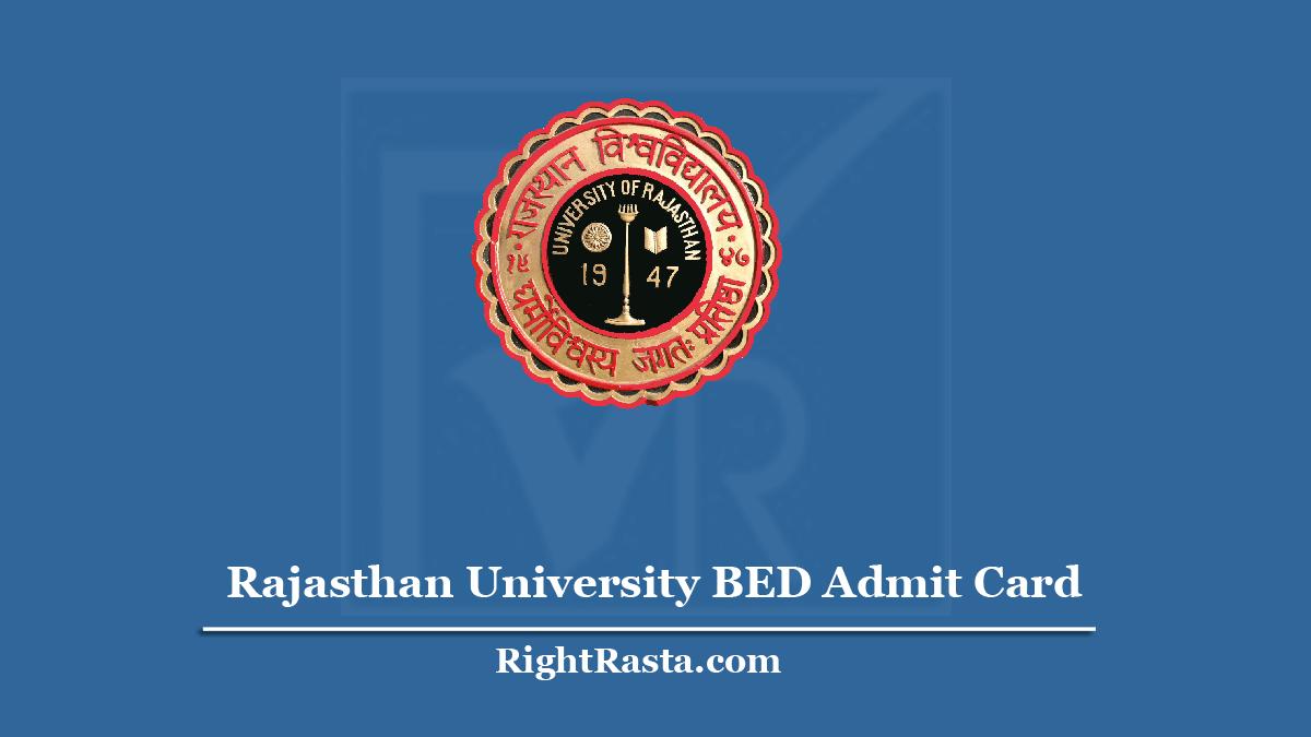 Rajasthan University BED Admit Card