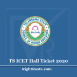 TS ICET Hall Ticket 2020 (Out) - Download Telangana ICET Admit Card