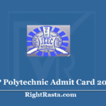 UP Polytechnic Admit Card 2020 (Out) Download JEECUP Admit Cards