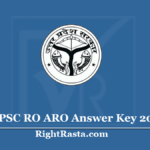 UPPSC RO ARO Answer Key 2020 (Released) - Download Review Officer Exam Key