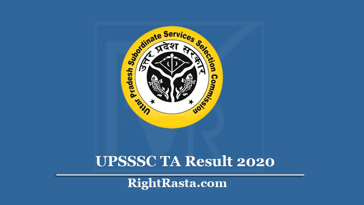 UPSSSC TA Result