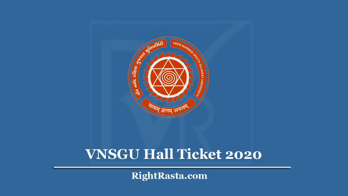 VNSGU Hall Ticket