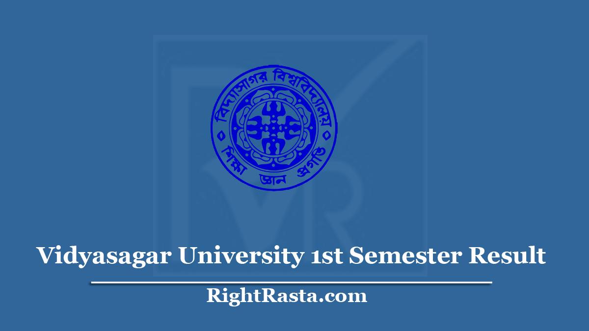 Vidyasagar University 1st Semester Result
