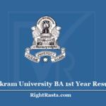 Vikram University BA 1st Year Result 2020 (Out) - Download VU B.A. Result List