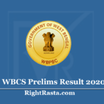 WBCS Prelims Result 2020 (Out) - Download PSC Civil Services Exam Cut Off Marks