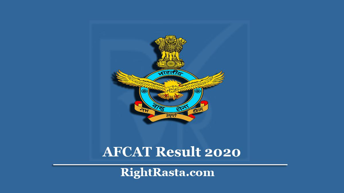 AFCAT Result 2020
