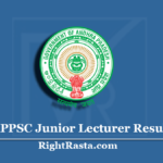APPSC Junior Lecturer Result 2020 (Out) | Download AP JL Main Result With Merit List