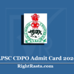 APSC CDPO Admit Card 2020 (Out) | Assam Child Development Project Officer Hall Ticket