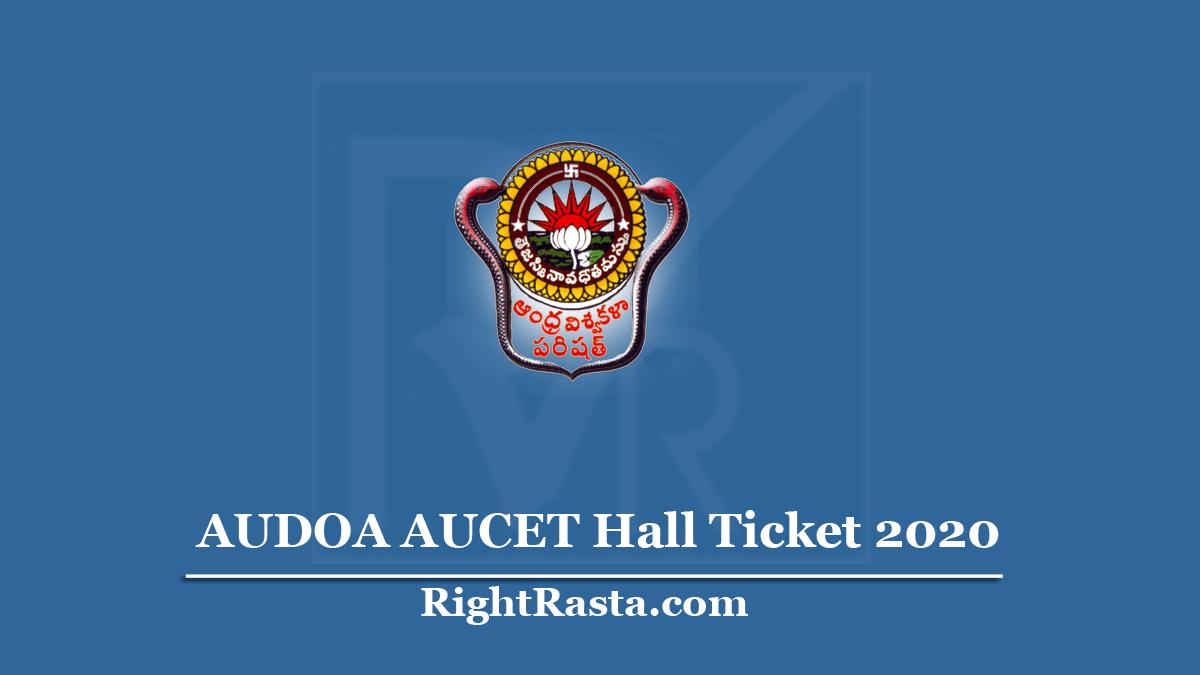 AUDOA AUCET Hall Ticket