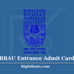 BBAU Entrance Admit Card 2020 (Out) Download Phase 2 Hall Ticket