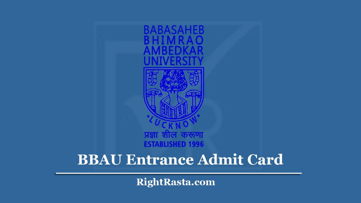BBAU Entrance Admit Card