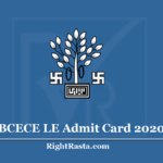 BCECE LE Admit Card 2020 (Out) Download Bihar LE Exam Hall Ticket