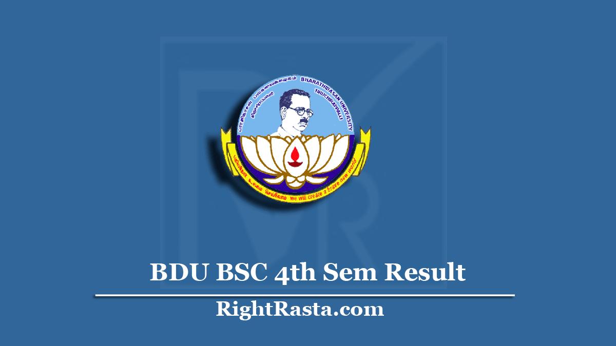 BDU BSC 4th Sem Result