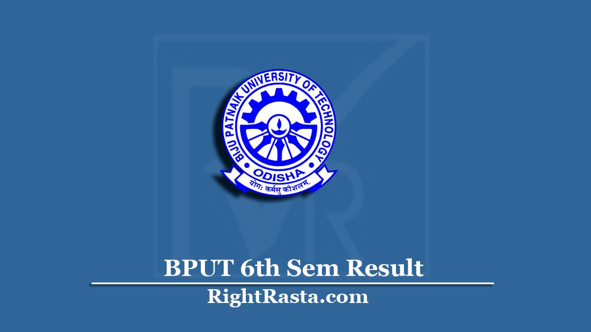 BPUT 6th Sem Result