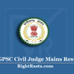 CGPSC Civil Judge Mains Result 2020 (Out) | Download CJM Main Exam Merit