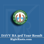 DAVV BA 3rd Year Result 2020 (Out) | Download B.A Part 3 Results