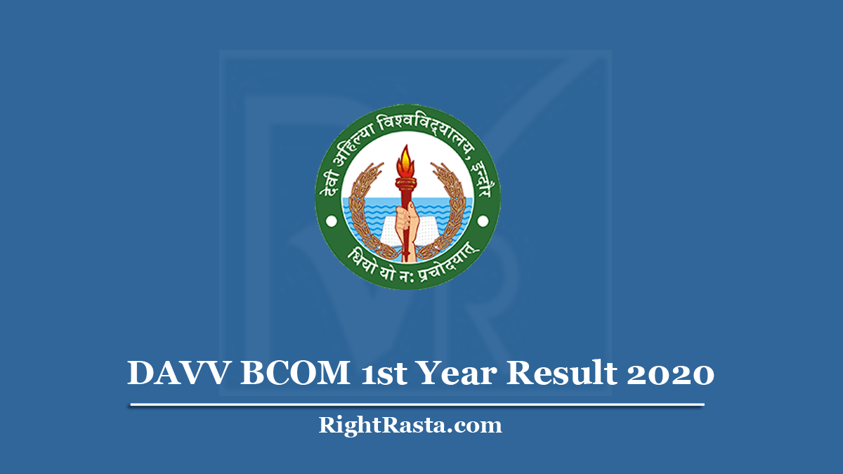 DAVV BCOM 1st Year Result