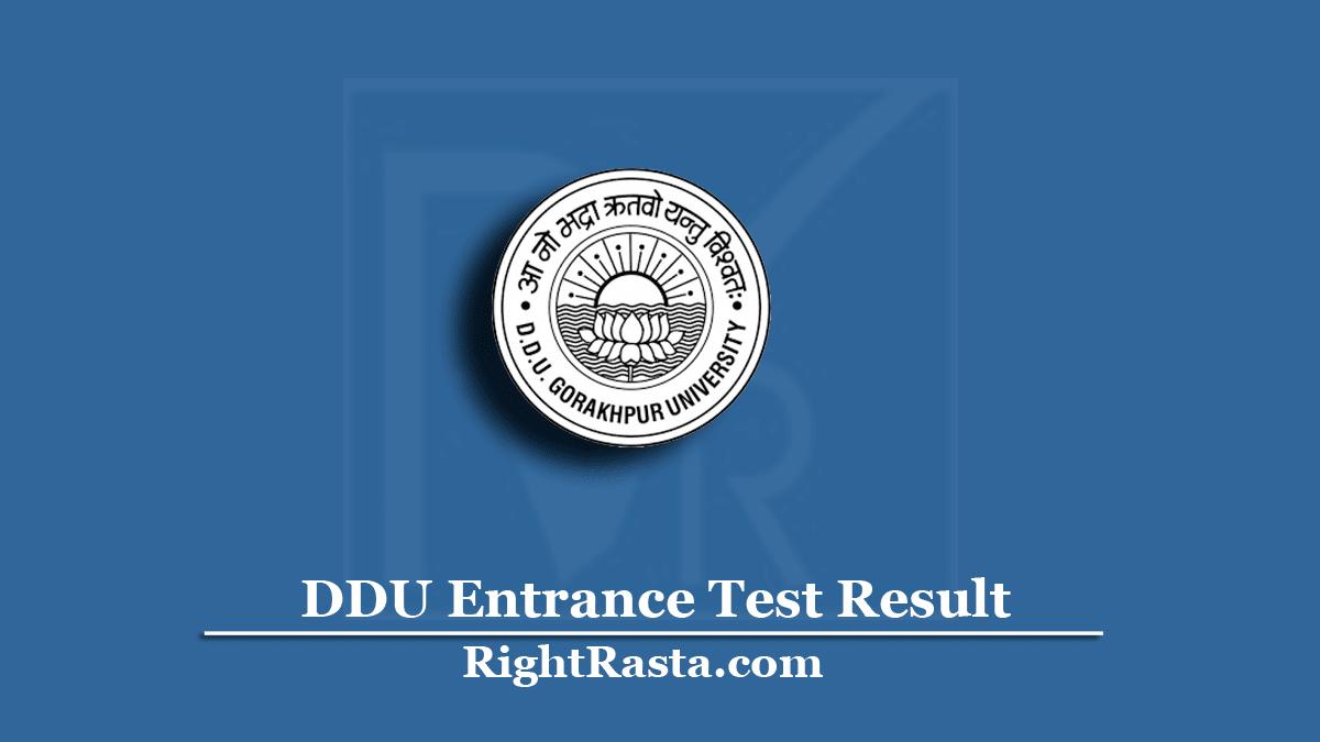 DDU Entrance Test Result