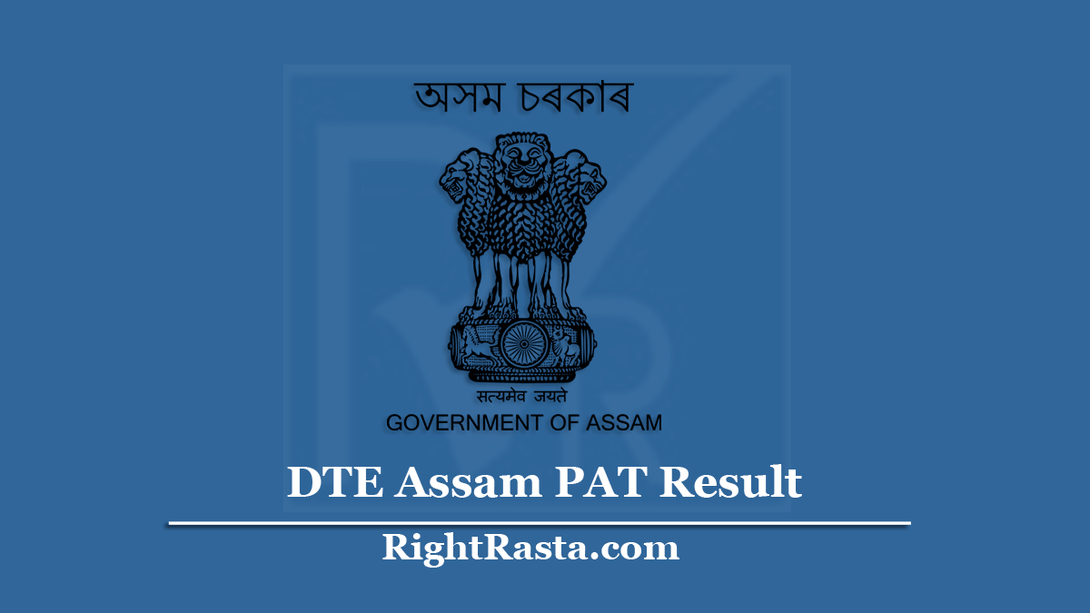 DTE Assam PAT Result