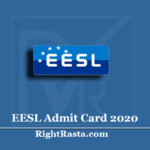 EESL Admit Card 2020 (Out) | Download Energy Efficiency Services Hall Ticket