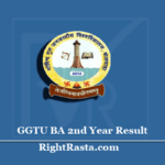 GGTU BA 2nd Year Result 2020 (Out) | Govind Guru Tribal University B.A Part II Results