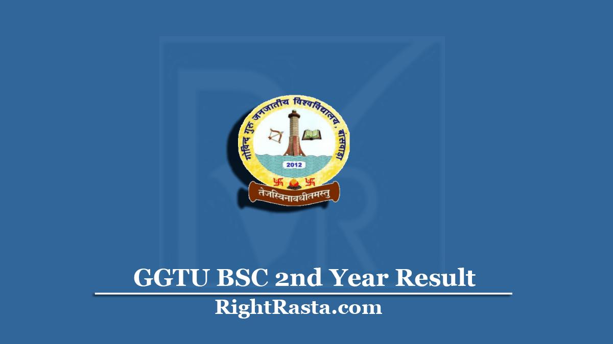 GGTU BSC 2nd Year Result