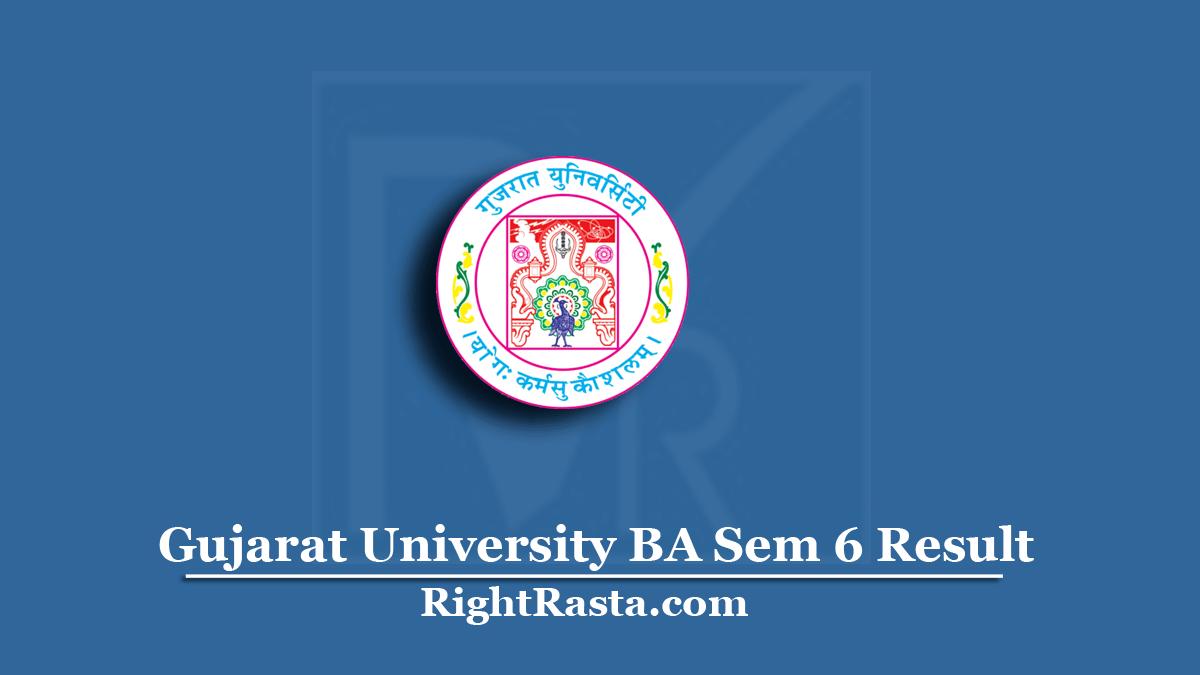 Gujarat University BA Sem 6 Result