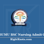 HNBUMU BSC Nursing Admit Card 2020 (Out) | Uttarakhand Paramedical Hall Ticket