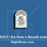 HNGU BA Sem 2 Result 2020 (Out) | Download B.A Semester 2 Results