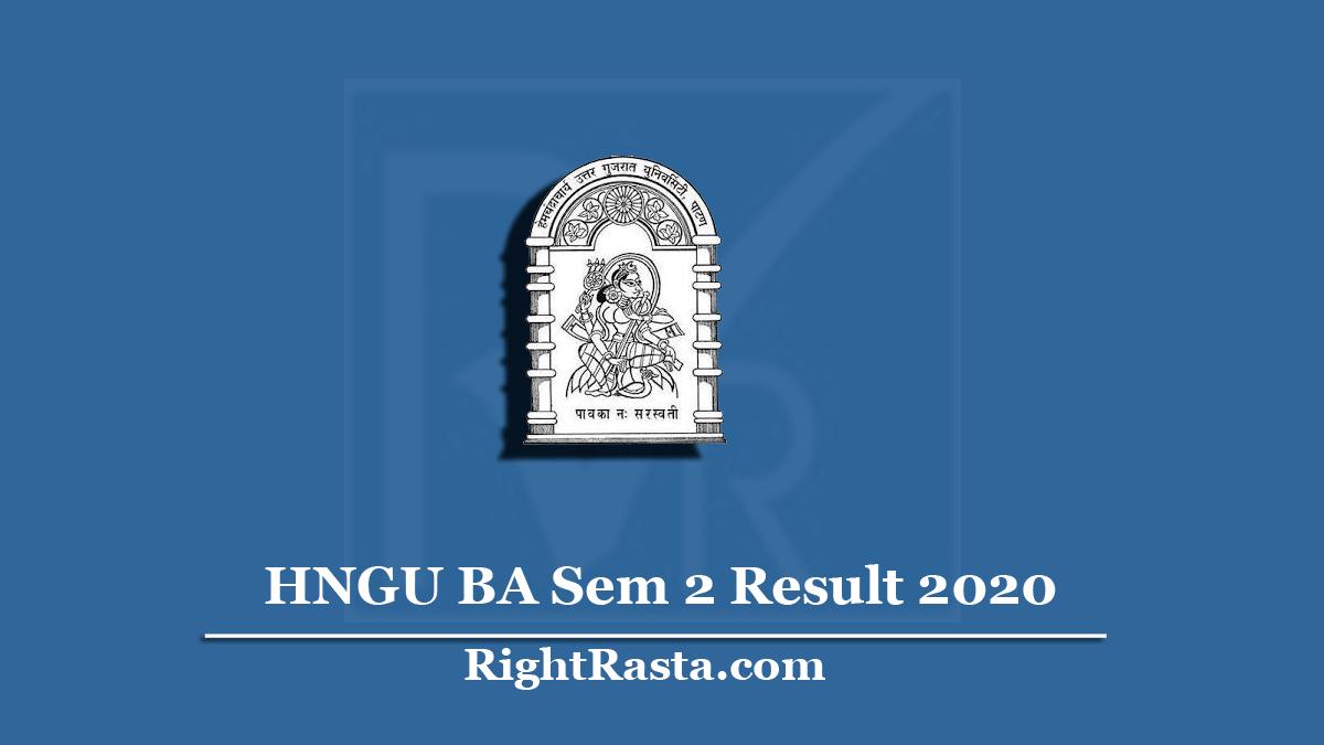 HNGU BA Sem 2 Result