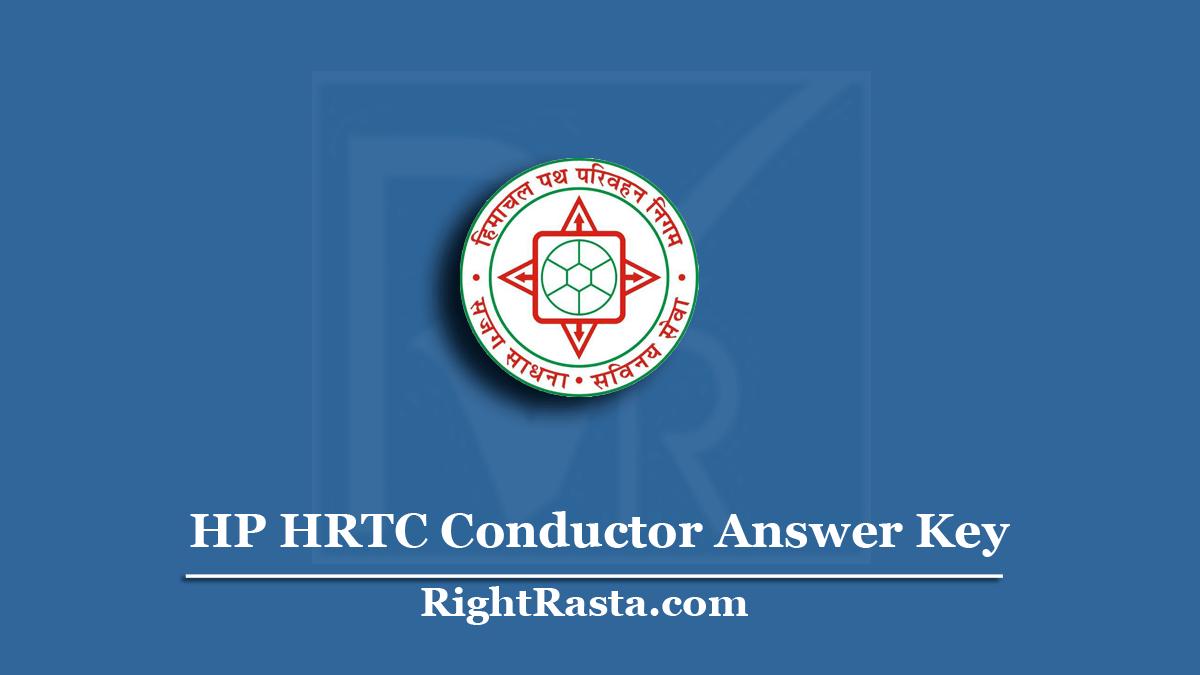 HP HRTC Conductor Answer Key