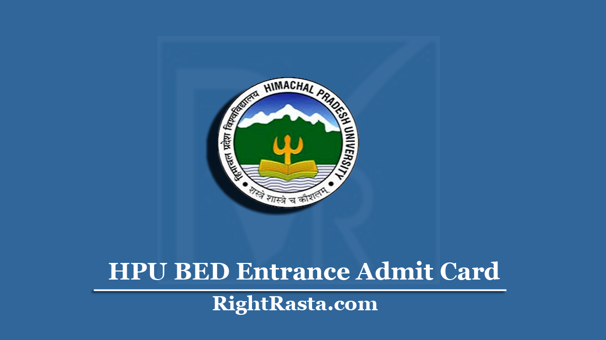 HPU BED Entrance Admit Card