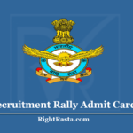 IAF Recruitment Rally Admit Card 2020 (Check) - Revised Shortlisted Candidates