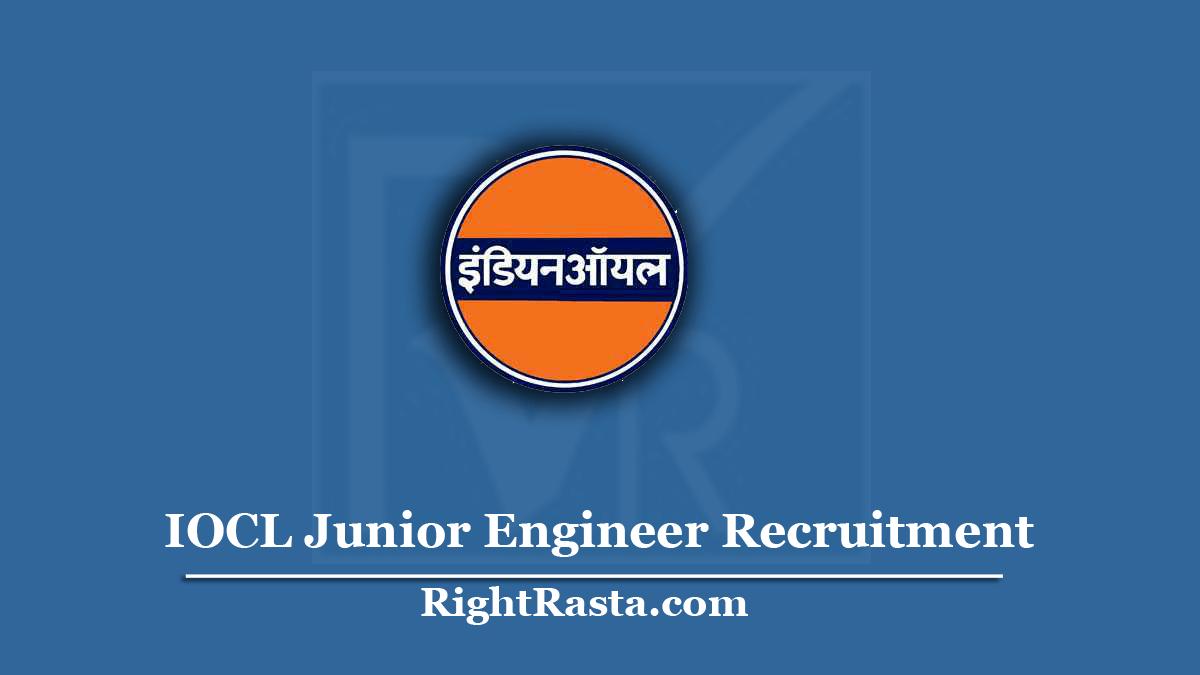 IOCL Junior Engineer Recruitment