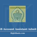 JKSSB Account Assistant Admit Card 2020 (Out) | JK PanchayatAccountant Hall Ticket