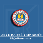 JNVU BA 2nd Year Result 2020 (Out) | Download B.A Part 2 Results