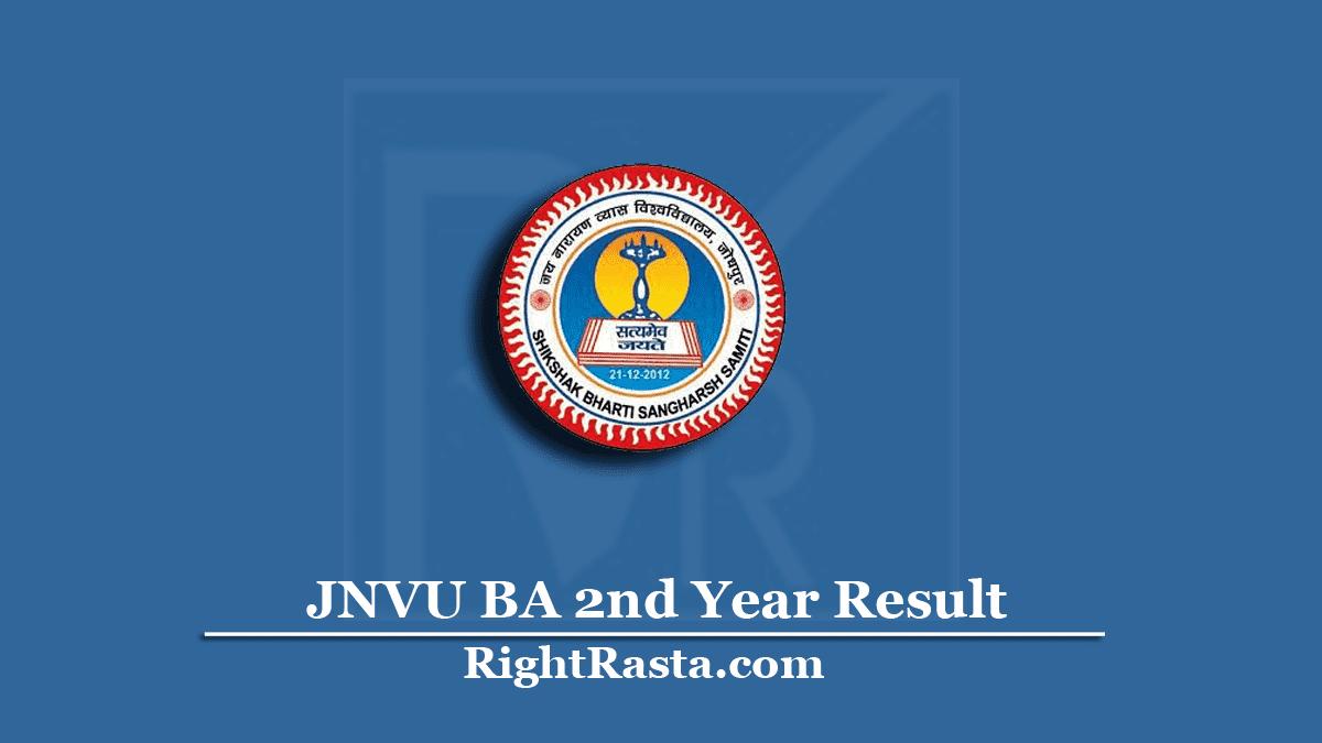 JNVU BA 2nd Year Result
